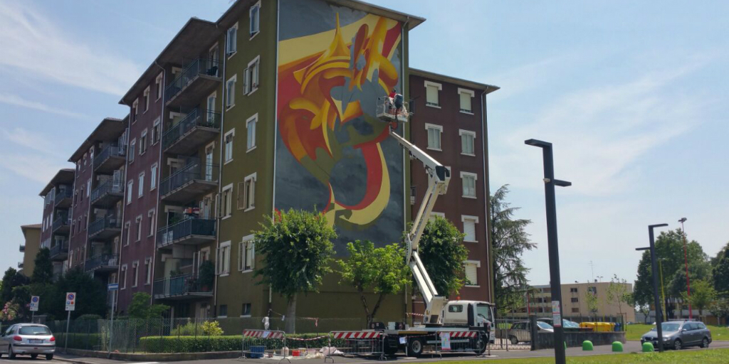 Up Rent di Scaligera Service Mantova: a Lunetta torna la street art per colorare il quartiere!