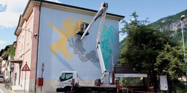 Up Rent di Scaligera Service Trento: murales e street art a Chizzola
